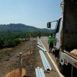 guard rail แขวงทางหลวงตราด ปริมาณงาน 708 เมตร
