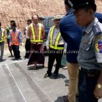 การสาธิตวิธีการตีเส้น ที่กอกะเร็ก กม.154 กับ กม.159 ประเทศพม่า လက်တွေ့လမ်းမျဥ်းဆွဲပြခြင်း နေရာ ကော့ကရိက် 154 KM နဲ့ 159 KM မြန်မာနိုင်ငံ