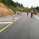 ตีเส้นจราจร ที่กอกะเร็ก กม.154 กับ กม.159 ประเทศพม่า လမ်းမျဥ်းဆွဲသည် နေရာ ကော့ကရိက် 154 KM နဲ့ 159 KM မြန်မာနိုင်ငံ