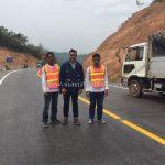 ตีเส้นถนน ที่กอกะเร็ก กม.154 กับ กม.159 ประเทศพม่า လမ်းမျဥ်းဆွဲသည် နေရာ ကော့ကရိက် 154 KM နဲ့ 159 KM မြန်မာနိုင်ငံ