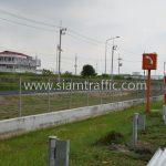 guard rail ตามแบบมาตรฐานกรมทางหลวง เลขที่ DWG.NO.RS-604 แขวงทางหลวงพิเศษระหว่างเมือง ทางหลวงพิเศษหมายเลข 7 ตอน บางปะกง – หนองรี ปริมาณงานรวม 1,572.00 เมตร