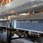 แผ่นการ์ดเรล เสาสำหรับแผ่นการ์ดเรล ยาว 2.60 เมตร ส่งไปจังหวัดชุมพร