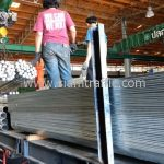 มอกเหล็กแผ่น เสาสำหรับมอกเหล็กแผ่น ยาว 2.60 เมตร ส่งไปจังหวัดชุมพร