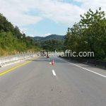 ตีเส้นถนน หนองน้ำเขียว - ปางเคาะ ระหว่าง กม.360+000 – กม.370+000
