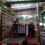 แผงกั้นจราจรขาวแดง จำนวน 150 แผง CentralPlaza Nakhon Ratchasima