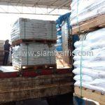 สีจราจรทาถนน สีขาว จำนวน 1,000 ถุง ส่งไปประเทศพม่า