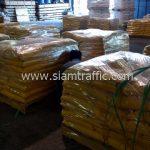 สีทาพื้นถนน สีเหลือง จำนวน 2,000 ถุง ส่งไปประเทศพม่า