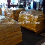 สีเทอร์โมพลาสติก สีเหลือง จำนวน 2,000 ถุง ส่งไปประเทศพม่า