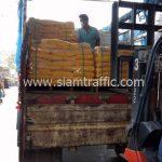 Thermoplastic สีเหลืองและสีขาว จำนวน 3,000 ถุง ส่งไปประเทศพม่า