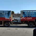 สีจราจรทาถนน จำนวน 3,000 ถุง ส่งไปประเทศพม่า