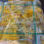 Thermoplastic สีเหลือง จำนวน 2,000 ถุง ส่งไปประเทศพม่า