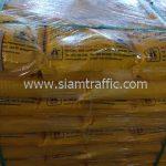 สีจราจรทาถนน สีเหลือง จำนวน 2,000 ถุง ส่งไปประเทศพม่า