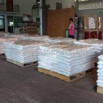 สีตีเส้นจราจร สีขาว จำนวน 1,000 ถุง ส่งไปประเทศพม่า