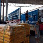 สีสะท้อนแสงทาถนน สีเหลือง จำนวน 2,000 ถุง ส่งไปประเทศพม่า