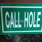 """แบบป้ายจราจร ข้อความ """"CALL HOLE"""" จำนวน 7 แผ่น"""
