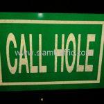 """ป้ายจราจร แนะนำ """"CALL HOLE"""" จำนวน 7 แผ่น"""