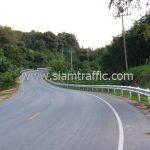 เหล็กกั้นถนน แขวงทางหลวงเชียงรายที่ 2 ปริมาณงาน 2,656 เมตร