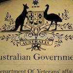 """ป้ายจราจร """"Australian Government"""""""