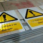 ป้ายความปลอดภัย ระวังอันตราย Danger ขนาด 30 x 45 เซนติเมตร