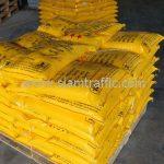 สีเทอร์โมพลาสติกสีเหลือง จำนวน 500 ถุง ส่งไปประเทศพม่า