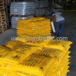 สีตีเส้นจราจรสีเหลือง จำนวน 500 ถุง ส่งไปประเทศพม่า