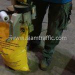 การบรรจุสีเทอร์โมพลาสติกสีเหลือง TRI-STAR ส่งไปเมืองเมียวดี ประเทศพม่า