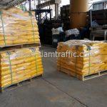 สี thermoplastic สีเหลือง จำนวน 500 ถุง ส่งไปประเทศพม่า