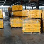 สีเทอร์โมพลาสติกสีเหลือง TRI-STAR จำนวน 500 ถุง ส่งไปประเทศพม่า