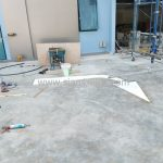 ตีเส้นลูกศร ที่อาคารสุรินทร์ (Surin building) เขตคลองสาน