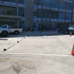 ตีเส้นที่จอดรถยนต์ จำนวน 38 ช่อง อาคารสุรินทร์ (Surin building) เขตคลองสาน