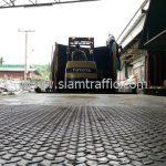 สีจราจรเทอร์โมพลาสติกทาถนน ส่งออกประเทศพม่า จำนวน 1,500 ถุง