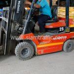 สีตีเส้นถนนสีเหลือง ส่งออกประเทศพม่า