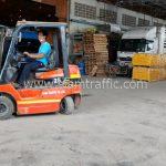 สีตีเส้นถนนสีเหลือง ส่งออกประเทศพม่า จำนวน 1,500 ถุง