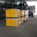 สีทาถนนสีเหลือง ส่งออกประเทศพม่า จำนวน 1,500 ถุง