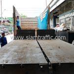 สีตีเส้นจราจร ส่งออกประเทศพม่า จำนวน 1,500 ถุง