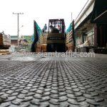 สีจราจรตีเส้นถนน มอก.542-2549 ส่งออกประเทศพม่า จำนวน 1,500 ถุง