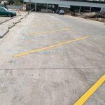 ตีเส้น ด้วยสีเทอร์โมพลาสติก ที่ตลาดเวิลด์มาร์เก็ต ปริมาณงาน 2,011.15 เมตร