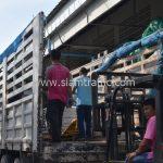 สีเทอร์โมพลาสติก จำนวน 650 ถุง ส่งไปที่ประเทศพม่า