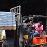 สีเส้นจราจร ส่งไปสาธารณรัฐแห่งสหภาพพม่า จำนวน 650 ถุง