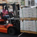 สีตีเส้นจราจร 650 ถุง ส่งไปประเทศพม่า