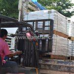 สี thermoplastic สีขาว สำหรับตีเส้นถนน ส่งไปพม่า