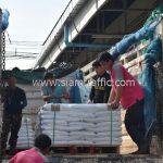 สีเทอร์โมพลาสติก ตีเส้นถนน จำนวน 650 ถุง ส่งไปสาธารณรัฐแห่งสหภาพพม่า