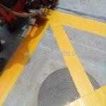 ตีเส้น ตารางสีเหลือง ที่จุฬาพัฒน์ 14 (ซอยจุฬาฯ 12) จุฬาลงกรณ์มหาวิทยาลัย