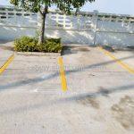 ตีเส้นช่องจอดรถ ที่ศูนย์การศึกษาพิเศษ มหาชัย