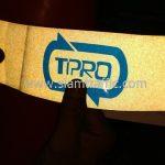กรวยยางจราจร คาดแถบสะท้อนแสง TPRO