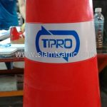 กรวยถนน คาดแถบสะท้อนแสง TPRO