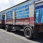 ส่งสีเทอร์โมพลาสติก ตีเส้นถนน จำนวน 1,550 ถุง ส่งไปที่เมืองเมียวดี ประเทศพม่า
