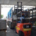 สีเทอร์โมพลาสติก มอก. 542 – 2549 จำนวน 1,550 ถุง ส่งไปที่เมืองเมียวดี ประเทศพม่า