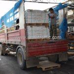 สีเทอร์โมพลาสติก ตีเส้นถนน จำนวน 1,550 ถุง ส่งไปที่ประเทศพม่า