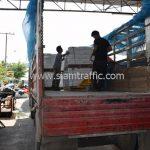สีเทอร์โมพลาสติก ตีเส้นถนน มอก. 542 – 2549 จำนวน 1,550 ถุง ส่งไปที่ประเทศพม่า